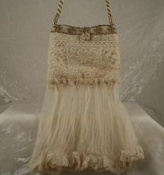 Antique silk wedding bag
