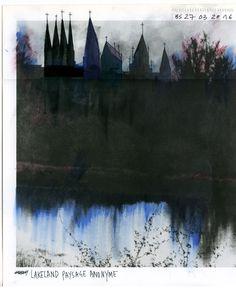 Beniamino Servino. Paesaggio anonimo lacustre/Lakeland anonymous landscape.