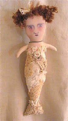 Art mermaid doll by Sandy Mastrioni