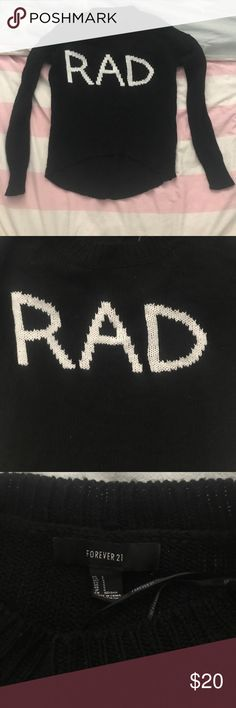 Forever 21 RAD sweater 🤙🏼 Black forever 21 RAD sweater 🤙🏼 Forever 21 Sweaters
