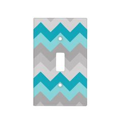 Shop Teal Turquoise Blue Grey Gray Chevron Ombre Fade Light Switch Cover created by decampstudios. Teal Bedroom Decor, Blue Gray Bedroom, Bedroom Ideas, Teal Bedrooms, Girls Bedroom, Nursery Decor, Switch Plate Covers, Light Switch Covers, Switch Plates