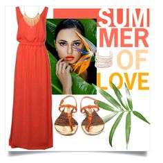 """""""summer dress"""" by tuaptstore on Polyvore featuring Alexis Bittar, WithChic, Luis Onofre, dress, summertime, summerstyle, summersandals and portuguesebrands"""