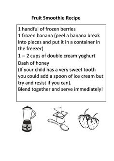 Smoothie Recipe for Preschoolers | Life in the Sandpit
