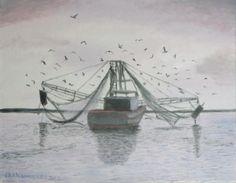 #Fishing Boat - Tybee Island #Georgia. 11 x 14 oil on canvas board. #art #artist #painting #fishingboat