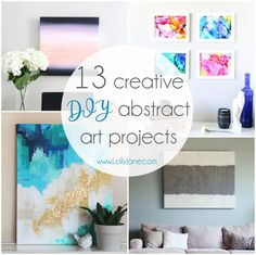 Filling your walls with beautiful art can get expensive, fast! That's why we have rounded up 13 Creative DIY Abstract Wall Art Projects. You don't need to be an artist to create some amazing paintings to adorn your walls! The great thing about abstract art is if you mess up, who cares?! No one can tell! …