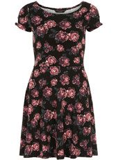 Rose print twist sleeve dress  #ShareTheLove