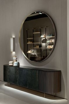 Plissè Baxter Design: Draga & Aurel Enchanting in its lines and finishings, P. Colorful Furniture, New Furniture, Furniture Design, Baxter Furniture, Sideboard Furniture, Retro Sideboard, Black Sideboard, Modern Sideboard, Furniture Removal