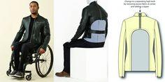 IZ Adaptive da estilista canadense Izzy Camilleri, são roupas são modeladas para atender a anatomia do corpo quando sentado, proporcionando um melhor caimento e conforto.