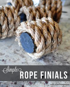 diy jute rope finials, crafts, how to, window treatmentsLiving Room Curtain Reveal and DIY Rope Finials - Way of the Glue GunWe recently did our big curtain reveal for our living/dining room curtains. Diy Curtain Rods, Finials For Curtain Rods, Dining Room Curtains, Diy Curtains, Window Coverings, Window Treatments, Moving New House, Nautical Curtains, Architecture Design