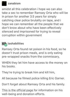 Ramsey Orta donation page: http://www.ramseyorta.info/donations.html