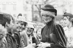 2 MARCH 1983 CROWDS LINE THE STREET TO CATCH A GLIMPSE OF PRINCESS DIANA AS SHE VISITS AYLESBURY TO OPEN THE HALE LEYS SHOPPINGCENTRE