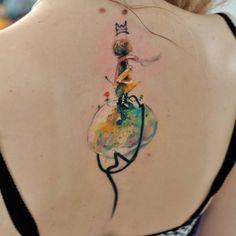 Aleksandra Katsan > The Little Prince #tattoo #ink #watercolor