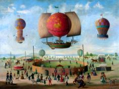 the-ephemeral-magpie:  The Ascent Of The Hot Air Balloon~by Victor Philippe Francois Lemoine-Benoit.