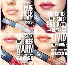 What's your favorite color?  #lips #lipgloss #younique #makeup #cosmetics #gloss #beauty #products #mascara #3dfiberlash