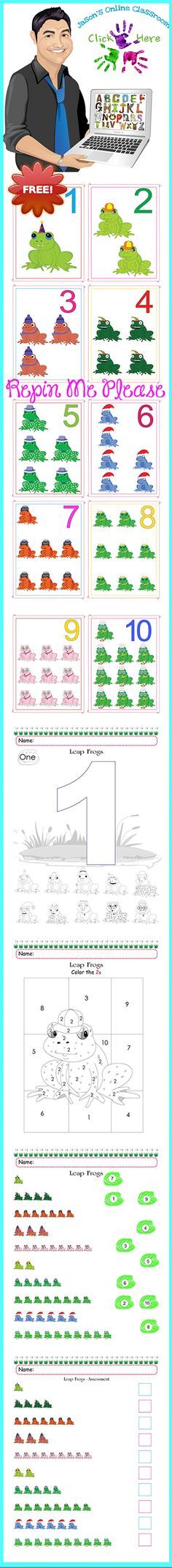 REPIN ME PLEASE :) FREE - Custom created and designed packet aimed at helping children learn the numerals one through ten.