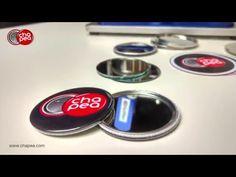 ¿Cómo hacer espejos personalizados? - Con la máquina para hacer chapas B500 o B700 - YouTube