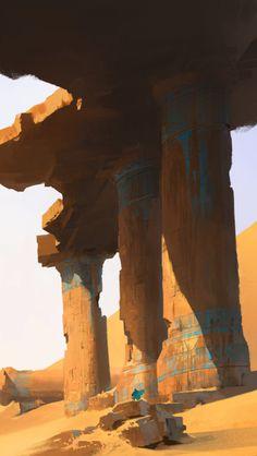 The Beautiful Singing Bird — theartofanimation: Yu Yiming Landscape Concept, Fantasy Landscape, Landscape Art, Environment Concept Art, Environment Design, Fantasy Places, Fantasy World, Fantasy Concept Art, Fantasy Art