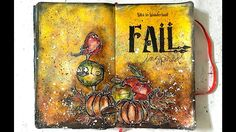 Tim Holtz Crazy Autumn Art Journal