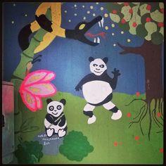 #katutaidetta #Pasilassa #katutaidetop5 #streetart #Pasila #Helsinki 25.2.16 #Pandas  #snake  #käärme