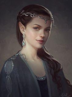 f Elf Wizard Cleric portrait As ilustrações de mulheres em mundos de fantasia de Ulyana Selene Regener
