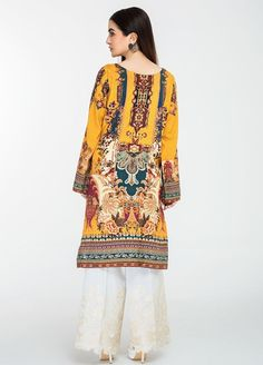 Afrozeh Embroidered Lawn Stitched Kurtis 06 Mystic Illusion Kurti Collection, Data Collection, Album Design, Hawaiian Print, Travel Design, Textile Design, Lady, Multiple Disabilities, Learning Disabilities