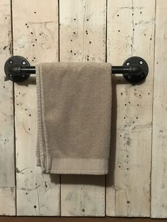 rack - 6 sizes available - Pipe towel rack - pipe towel holder - towel bar Towel Holder Bathroom, Bathroom Towels, Hand Towel Holders, Bathroom Storage, Bookcase Wall, Bookshelf Design, Wall Shelves, Shelving, Bathroom Styling
