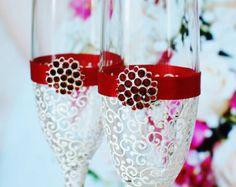 Pavo real de colores boda gafas gafas de boda por WeddingbyAnn