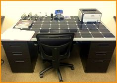 How cool is this #SolarPanel Desk used in our Energy Department? #GoGreen