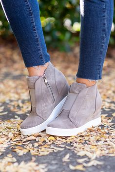 Solid Taupe Brown Wedge Sneakers The Mint Julep Boutique Mens sneakers Running Trendy outfit Wedge Tennis Shoes, Tennis Shoes Outfit, Womens High Heels, Womens Flats, Womens Wedge Sneakers, Brown Sneakers, Running Sneakers, Casual Sneakers, Wedges Outfit