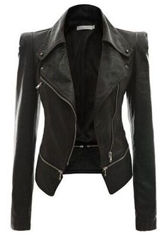 I have to admit, I've always wanted a motorcycle jacket. Maybe this could be my reward to me if I lose weight?