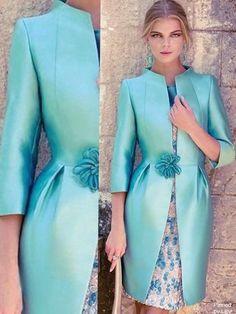 Elegant Cocktail Dress:: Pretty Aqua Color