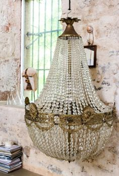 """This XL chandelier is from our feature """"A Leading Role"""""""