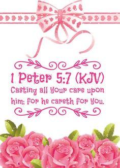 1 Peter 5:7 KJV