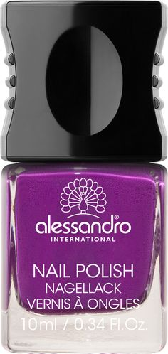 Nail polish for natural and artificial nails. Due to its formulation and ingredients this nail polish has a very high opacity and a brilliant shine. The patented design cap and integrated professional brush allows for a streak-free finish. Red And Pink, Purple, Artificial Nails, Professional Nails, Deep, Creative Nails, Nail Tutorials, Uv Gel, Nail Care