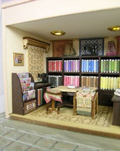Quilt Shop inside by Cynthia Howe Miniatures