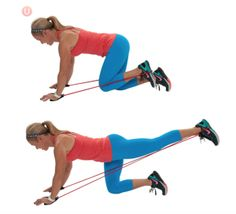 Resistance band butt blasters are a great exercise that's low-impact on the knees.