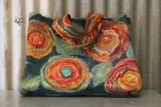 Wet Felted Carpet Bag by my mom, Sharon Mansfield.