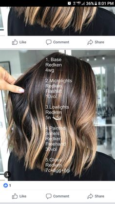 35 popular brunette balayage hair color ideas page 29 Hair Color And Cut, Brown Hair Colors, Balayage Brunette, Balayage Hair, Brunette Hair Highlights, Haircolor, Ombre Hair Brunette, Butter Blonde, Hair Color Formulas