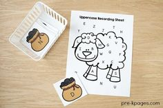 Baa Baa Black Sheep Nursery Rhyme Activities. Printable Alphabet Game to help your preschool, Pre-K, or kindergarten kids learn to identify letters of the alphabet. A fun, hands-on ABC game.