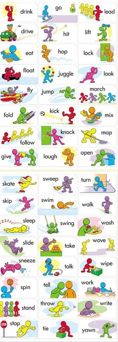 Google+ Verbs In English, English Speaking For Kids, Vocabulary In English, Learning English For Kids, English Teaching Materials, English Language Learning, Kids English, English Time, English Course