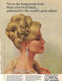 Vintage Loreal hair colour ad