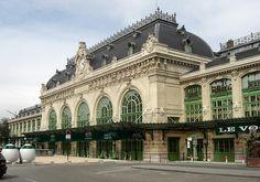 Ancienne gare à voyageurs des Brotteaux remplacée aujourd'hui par la gare de Lyon Part-Dieu