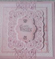 Sue Wilson Canadian collection dies with embossed background