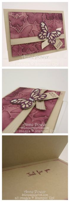 Black berry Bliss Flutter Embossing Folder Stampin' Up! with instruction part of a series.