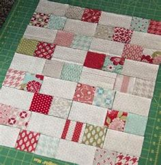 Doll Quilt with mini charms | Doll Quilts and Small Quilts | Pinterest