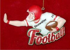 Fantastic Football Personalized Christmas Ornament