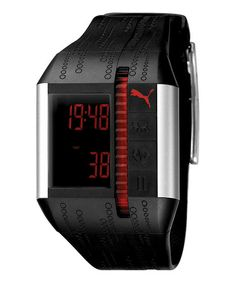 Take a look at this Black & Silver Cardiac II Chronograph Watch - Women by PUMA on #zulily today!