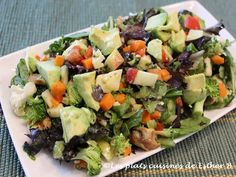 Les plats cuisinés de Esther B: Salade à la vinaigrette de Dijon Esther, Cobb Salad, Potato Salad, Ethnic Recipes, Food, Mustard, Salads, Meat, Apple