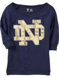 Notre Dame Dolman Sleeve Tee. Old Navy.