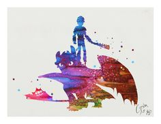 How to Train Your Dragon archival fine art print by TentakittyInk